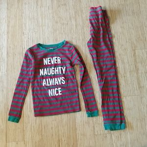 Carter's Never Naughty Always Nice pajamas